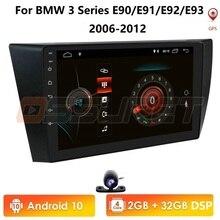 أندرويد 10.0 لسيارات BMW 3 Series E90 E91 E92 E93 مشغل NODVD الصوت ستيريو لتحديد المواقع ستيريو شاشة رصد الوسائط المتعددة راديو 2G + 32G BT