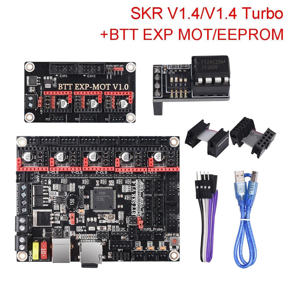 BIGTREETECH SKR V1.4 SKR V1.4 плата управления турбонаддувом TMC2209 TMC2208 + EEPROM V1.0/EXP MOT V1.0 части 3D принтера для Ender 3 MKS SGEN
