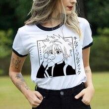 Camisa de t dos homens do caçador x do kawaii engraçado topos hisoka morow camisetas gráficas harajuku unisex anime killua zoldyck camiseta masculina