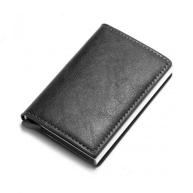 Aluminum Metal Credit Business Mini Card Wallet 2021 Dropshipping Man Women Smart Wallet Business Card Holder Rfid Wallet 2
