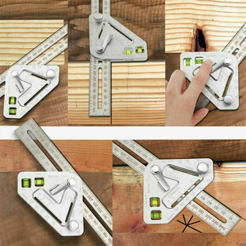 2020 HOT Multifunction Revolutionary Carpentry Better Tool Multi-function Multi-angle Level Measuring Angle Ruler