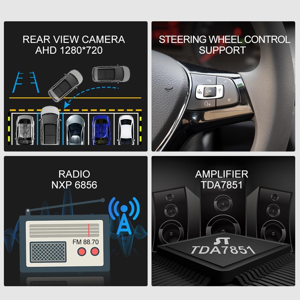 Image 2 - ISUDAR Car Radio For VW/Volkswagen/Magotan/Passat B6 B7 2 din Android 9 Autoradio Multimedia GPS DVR Camera RAM 2GB ROM 32GB USBCar Multimedia Player   -