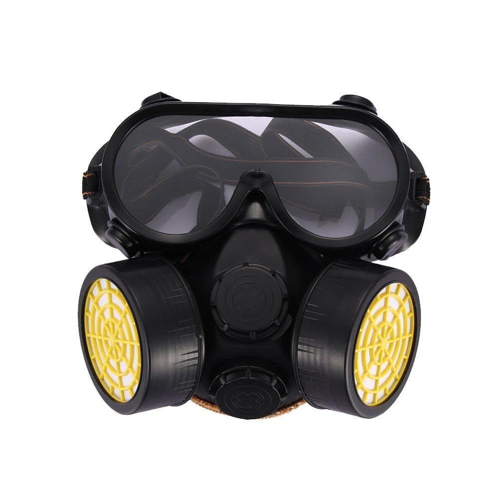 Gas Mask Chemical Gas Anti Dust Paint Industrial Respirator Dual Face Safety Protection Mask with Goggles Wholesale