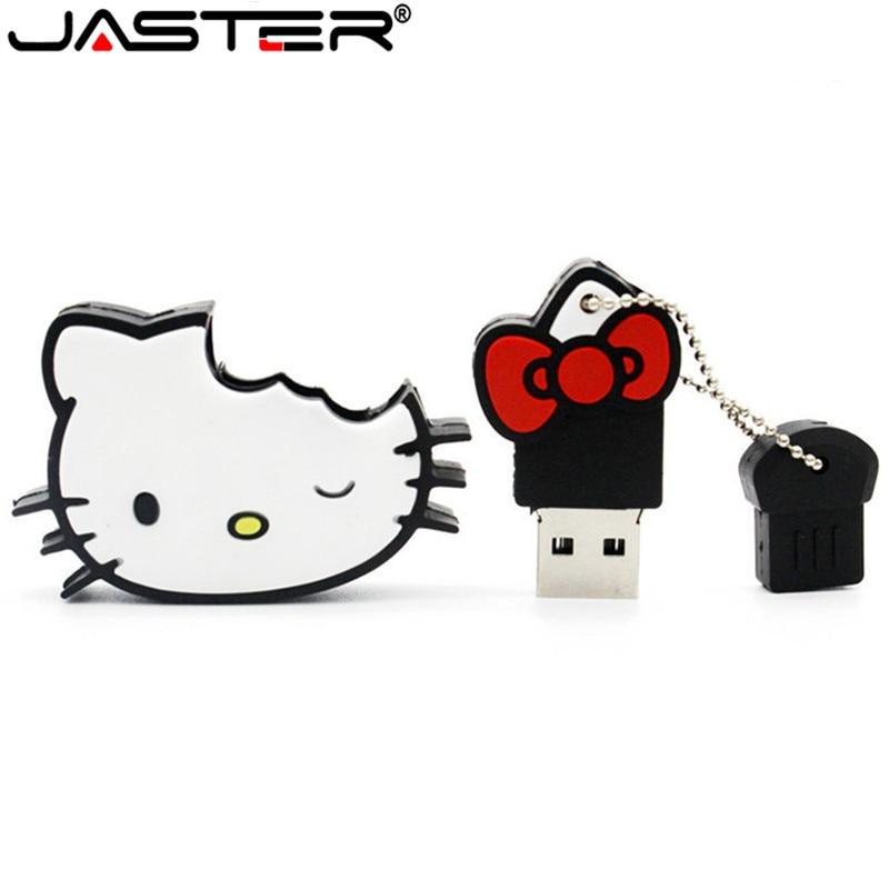 JASTER Hello Kitty Usb Flash Drive Lovely Pendrive 4gb 8gb 16gb 32gb Memory Stick U Disk Usb 2.0 Flash Disk Thumb Drive