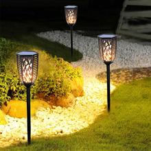 Solar LED Flame Lamps Flickering Flame Light Outdoor Waterproof Garden Torch Lamp Fire Light Bulbs Outdoor Lawn Garden Decor