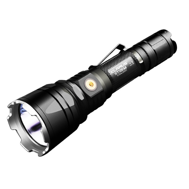 KLARUS XT12GT LED Flashlight 1600 Lumens CREE LED XHP35 HI D4 Waterproof Tactical Rechargeable Flashlight with18650 Battery