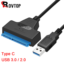 USB 3.0 SATA 3 كابل Sata إلى USB 3.0 محول حتى 6 Gbps دعم 2.5 بوصة خارجي HDD وسيط تخزين ذو حالة ثابتة/ القرص الصلب 22 دبوس Sata III كابل