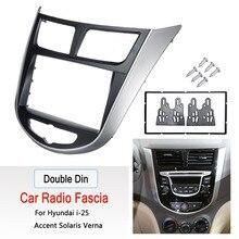 2 Din Auto Stereo Audio Radio Dvd Gps Plate Panel Frame Fascias Vervanging Voor Hyundai Verna I 25 Voor Solaris Accent 2010 2017