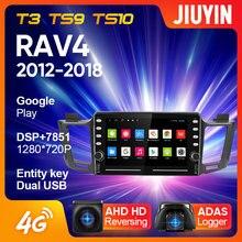 Jiuyin para toyota rav4 4 xa40 5 xa50 2012 - 2018 rádio do carro leitor de vídeo multimídia navegação gps nenhum 2din 2 din dvd