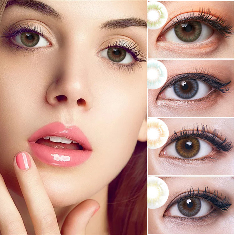 EYESHARE 2pcs/1 Pair Iris Series Contact Lenses Colored Contact Lens Eye Makeup Contacts Eye Lens Beauty Equipment