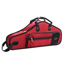 Saksafon durumda 1680D suya dayanıklı Oxford bez çanta yastıklı gelişmiş kumaşlar sax çantası ayarlanabilir omuz askısı саксофон альт