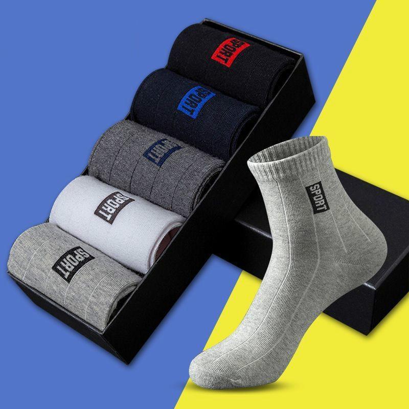 Socks-Set Pack Business-Socks Sweat-Absorbent Cotton Spring Breathable Men Black 5-Pairs