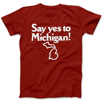 Say Yes To Michigan As Worn By Jack White T-Shirt 100% Premium Cotton Street Tee Shirt