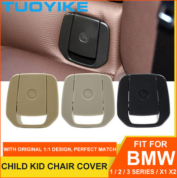 Car Rear Child Kid Chair Seat Cover Anchor Safety ISOFix Trim For BMW 1 2 3 series X1 E84 E87 F20 F22 F30 F35 F80 F48 F49 F39 X2 image