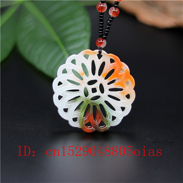 Natural Color Chinese Jade Windmill Pendant Necklace Charm Jadeite Jewelry Double-sided Hollow Carved Amulet Gifts For Her Men
