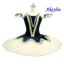 Adult Black Professional Ballet Competiton Classical Platter Tutu Egyptian Nights Dance Costumes Girls Nutcracker