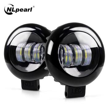 цена на Nlpearl Light Bar/Work Light 5 Inch Round Square Led Work Light For JEEP Offroad Truck Boat ATV 30W Fog Light Led Bar Spot Light