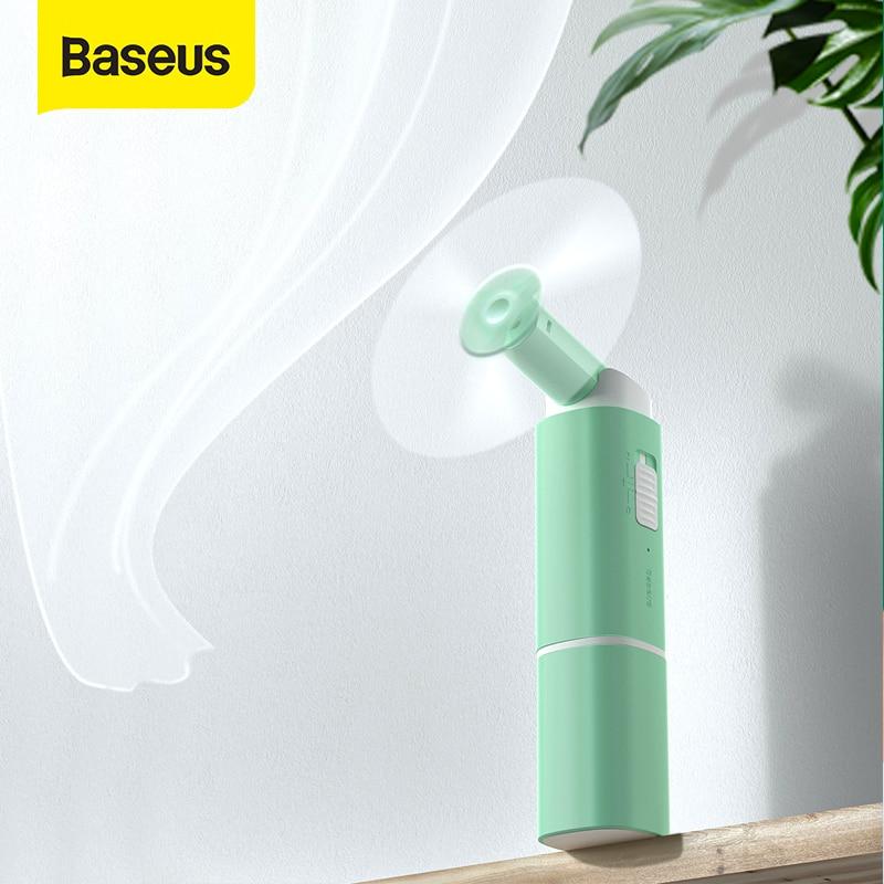 Baseus Portable Folding Fan Rechargeable 2 Level Mini USB Fan Outdoor Mini Ventilador USB Gadget 200