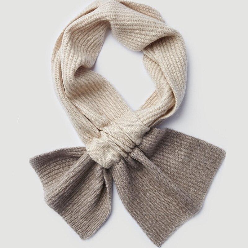 100% écharpe en cachemire naturel pour femmes hommes enfants hiver chaud cachemire col manches écharpe 2019 nouveau tricoté écharpe en cachemire et enveloppe - 2