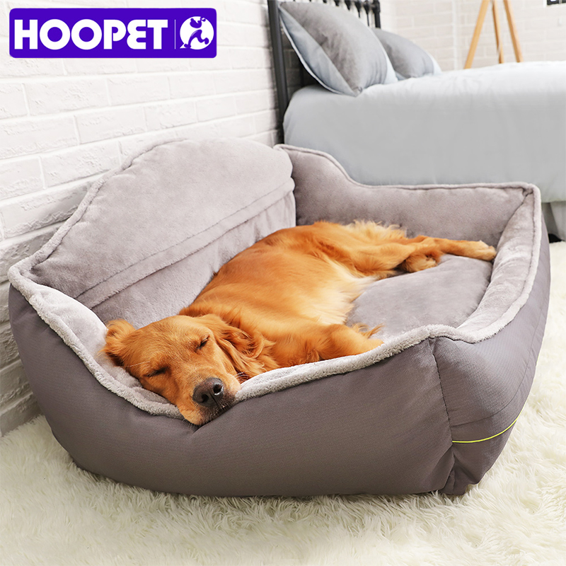 HOOPET Pet Sofa Dog Beds Soft Fleece Winter Thicken Warm Bed Sleeping Cat Bed House For Small Medium Large Dogs