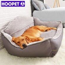 HOOPET ペットソファ犬のベッドソフトフリース冬厚くベッド睡眠猫ベッドハウス中大犬