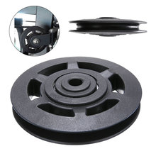 цена на High Quality Universal 95mm Black Wearproof Bearing ABS Material Pulley Wheel Cable Gym Sport Equipments Part