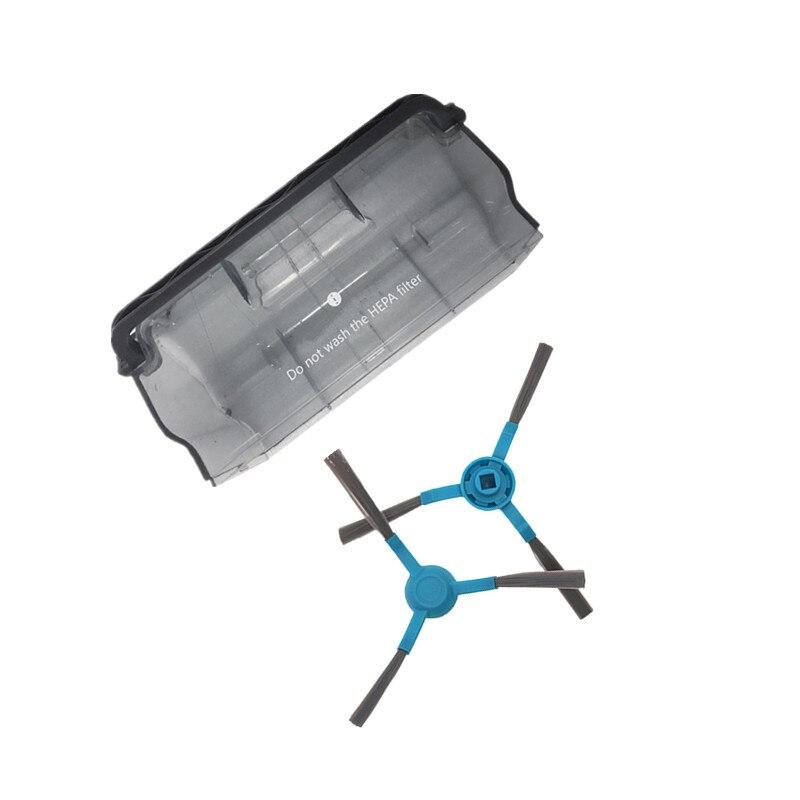 Robot Vacuum Cleaner Dust Bin Box Side Brush For Conga 3090 Series Robotic Vacuum Cleaner Brush Parts Accessories