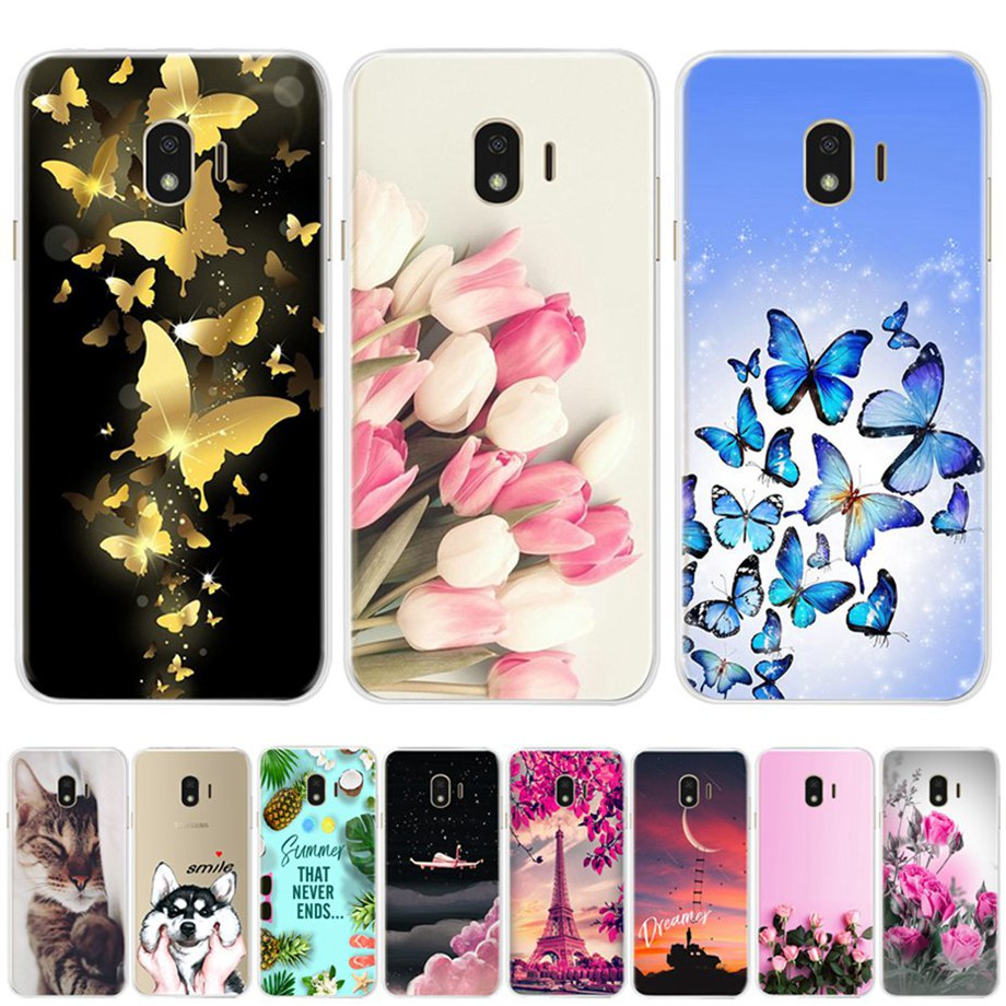 Phone Case For Samsung Galaxy J4 2018 Case For Samsung J4 Plus Cartoon Soft Silicone Back Cover For Samsung Galaxy J4 2018 Case
