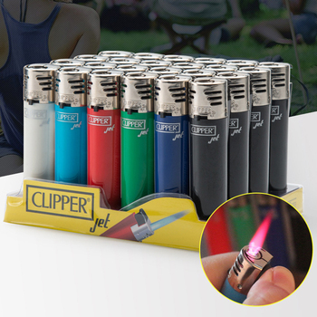 Original Clipper Jet Lighter Straight Flame Gasoline Butane Smoking Lighter Inflatable Portable Windproof Lighter Can wholesale classic retro style windproof zinc alloy butane jet lighter golden