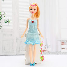 1pcs Blue Dress Doll Playset Monster Queen Throne Chair and Sofa Playset Accessories Monster Furniture Ever After Girl Toy(China)