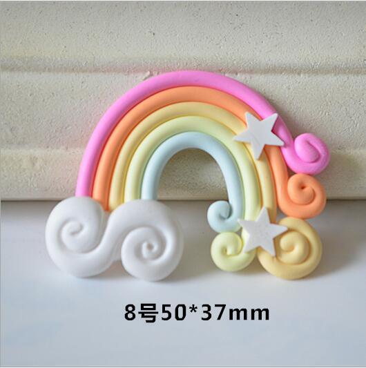 Rainbow /& Cloud Embelishment Bow