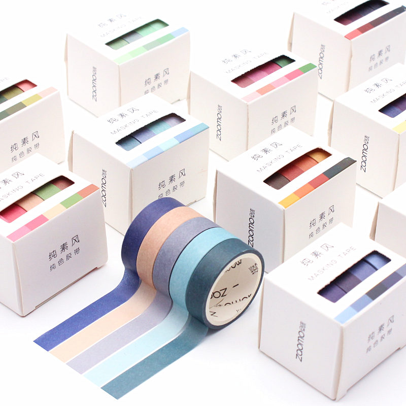 5pcs/set Scrapbook Set Vegan Wind And Paper Tape Hand Account Material Album Diary Decoration Diy Scrapbook Tape