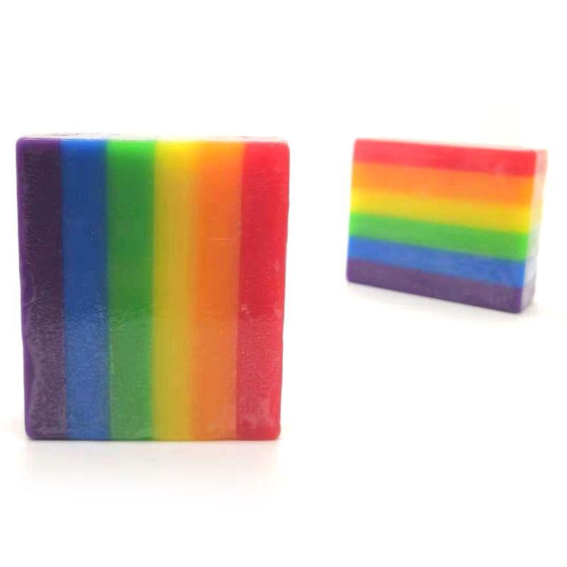 Rainbow Fruit Fragrant Soap Cleaning Washing Hand Shower Bathroom
