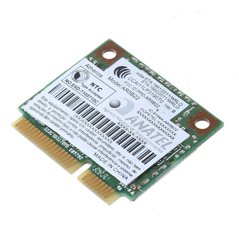 AR9462 AR5B22 WB222 Half Mini PCIe 300Mbps Bluetooth4.0 WLAN Wifi Wireless Card