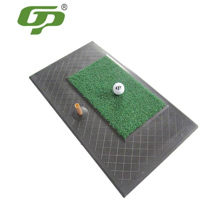 Fabricants vente directe en caoutchouc fourrure vêtements tapis de Golf balançoire intérieure pratique Pad Mini Portable vert pratique tapis de Golf