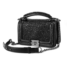 New Luxury Womens Bag Handbag Tide Chain Shoulder Mini Portable Sequined Synthetic Leather Ladies Hand Bags Flap Crossbody