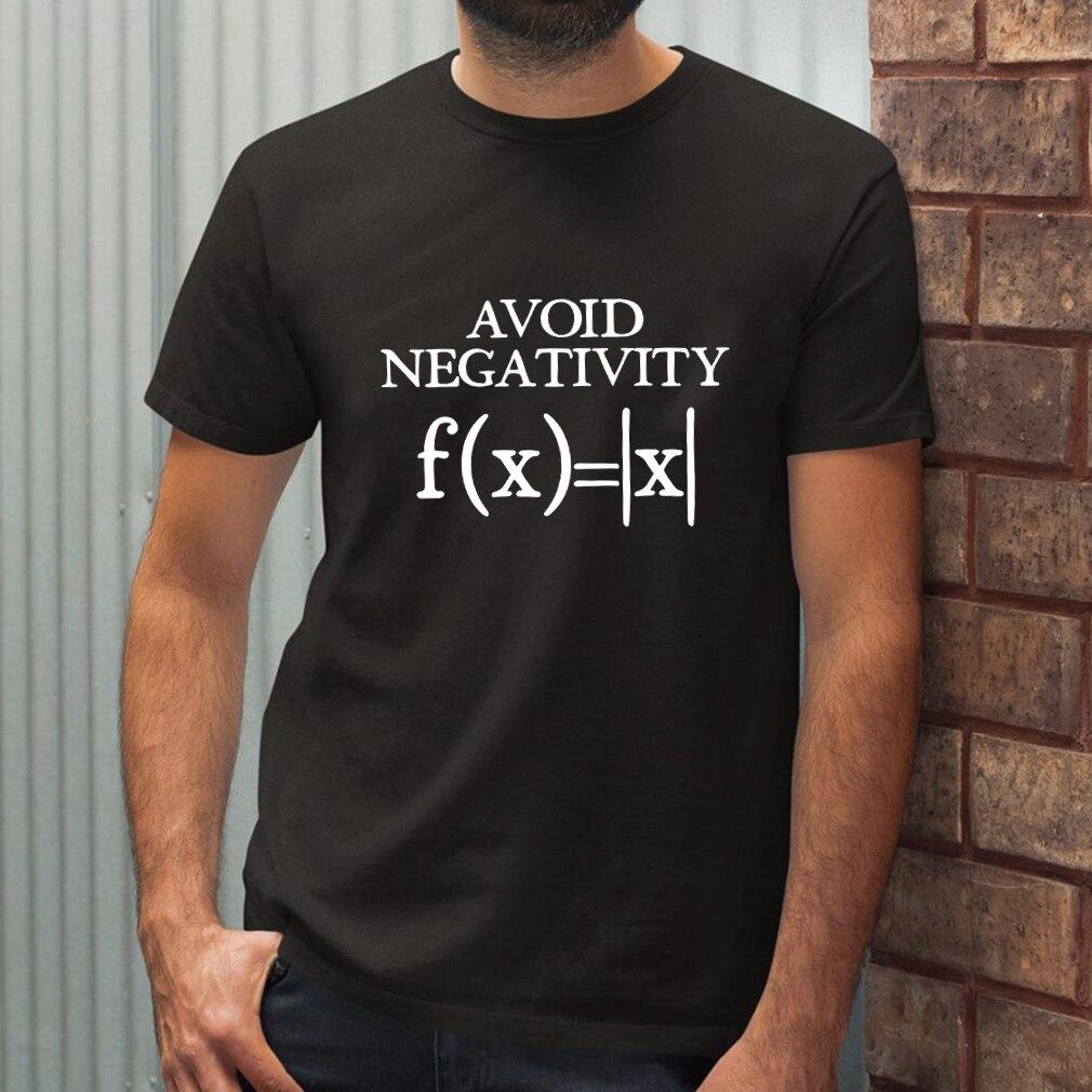 Футболка мужская с надписью «Избегайте отрицательности», смешная математическая тенниска с абсолютной стоимостью, с математической функц...