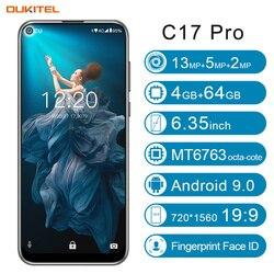 Перейти на Алиэкспресс и купить oukitel c17 pro smartphone 4gb ram 64gb rom 6.35'' android 9.0 19:9 mt6763 face id octa core 13.0mp 3900mah 4g lte mobile phone