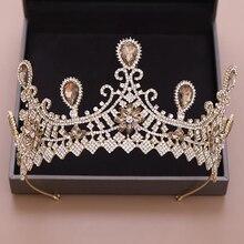 New Fashion Princess Wedding Crown Hair Accessories For Women Stylish Simple Bridal Wedding Hair Accessories Crystal Crown
