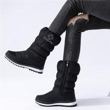MORAZORA Plus size 36 41New 2020 Snow boots women zip rhinstone wedges mid calf down winter boots fashion warm fur boots female