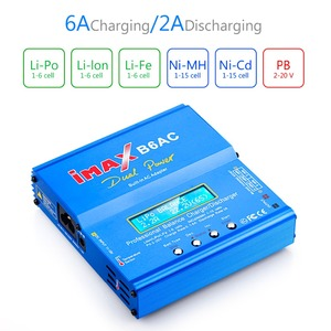 Image 2 - IMAX B6 ca 80W B6AC RC chargeur 6A double canal Balance chargeur Li ion Nimh Nicd Lipo batterie numérique LCD écran déchargeur