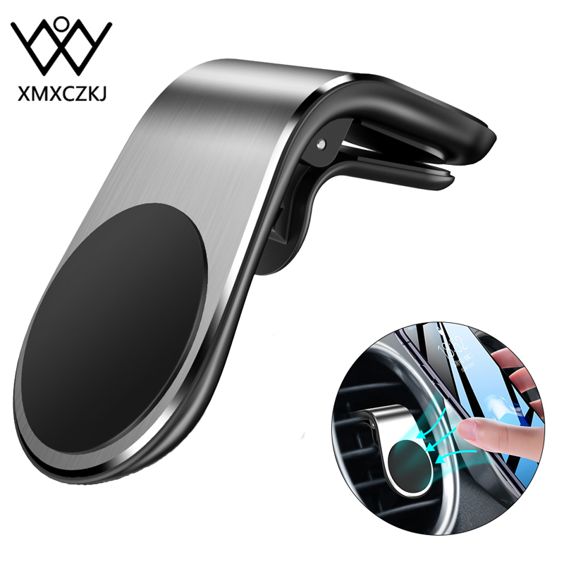 Metal Magnetic Car Phone Holder For Phone In Car Mobile Support Magnetic Phone Mount Stand Aluminium Air Vent Mobile Phone Stand