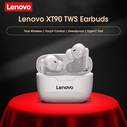 Original Lenovo XT90 TWS Wireless Earphone BT5.0 Stereo Noise Reduction Bass Sports Headset Touch Control Long Standby 300mAH