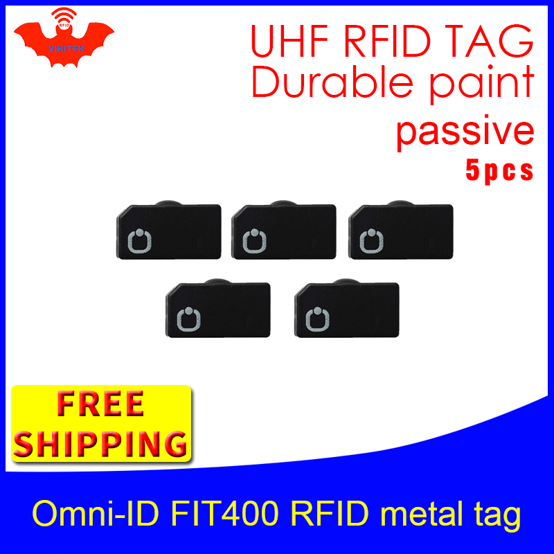UHF RFID Metal Tag Omni-ID Fit400 915mhz 868mhz Alien Higgs3 EPC 5pcs Free Shipping Durable Paint Smart Card Passive RFID Tags