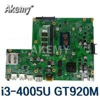 Akemy X540LJ Laptop motherboard für For Asus VivoBook X540L F540L A540L R540L original mainboard 4GB-RAM i3-4005U GT920M-2GB