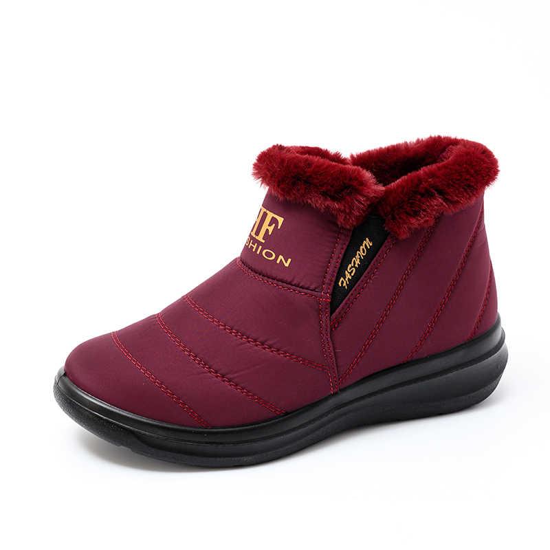 Kadın botları kış ayakkabı kadın sıcak kar botları kadın yarım çizmeler kadın kış ayakkabı Botas Mujer peluş patik su geçirmez