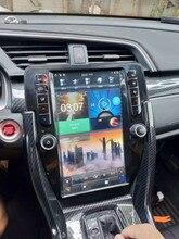 PX6 Android 2 Din récepteur stéréo lecteur multimédia autoradio pour Honda Civic 2016-2019 unité de tête vidéo Tesla écran HD Vertical