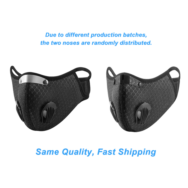 Face Mask With Filter Breathing Valve Activated Carbon PM 2.5 Anti-Pollution Bicycle Cycling Sports Protection Bike Dust Mask 4