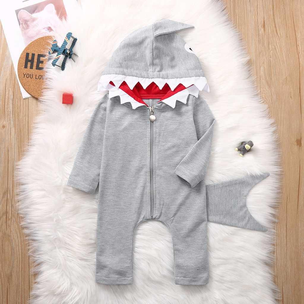 פעוט תינוקות בגדי 2019 סתיו חורף סרבל תינוק Rompers הסווטשרט כריש סרבל תינוק תלבושות יילוד תינוק בני בגדים