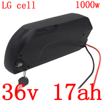 36V 500W 1000W battery pack 36V 17AH electric bike battery 36V lithium battery use LG cell with 30A BMS and 2A charger free duty
